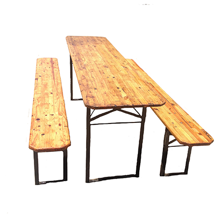 how to build a beer garden table