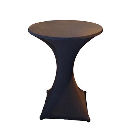 Cocktail table cloth black so where 2 events decor for Cocktail tables johannesburg