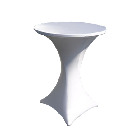 Cocktail table cloth white so where 2 events decor for Cocktail tables johannesburg