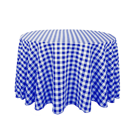 ... Blue And White Checked Tablecloth. R65.00 Ex VAT