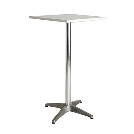 Chrome cocktail table square white top so where 2 for Cocktail tables johannesburg
