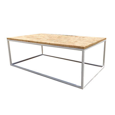 Coffee Table Steel Frame - Wooden Top | So Where 2 Events | Decor ...